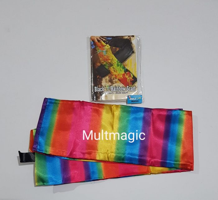 RAINBOW SCARF 1.10X 15 CM - Chameleon Silk Color Changing Streamer